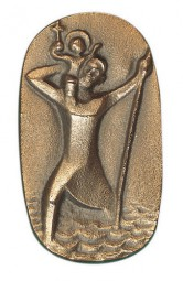 Autoplakette Christophorus (Bronze)