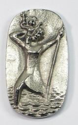 Autoplakette Christophorus (Silberbronze)