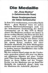 Faltblatt - Die Medaille der