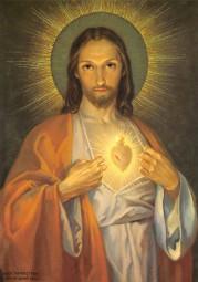 Herz-Jesu (nach Feuerstein) Postkarte