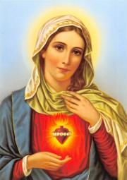 Herz-Mariä (mit flammendem Herz) DIN A4