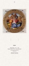 Rückwand zum Liturgischen Kalender - Hl. Familie mit dem Johannesknaben