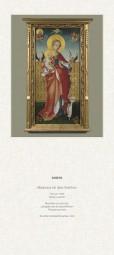 Rückwand zum Liturgischen Kalender - Madonna mit dem Veilchen