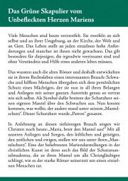 Faltblatt - Das Grüne Skapulier vom Unbefleckten Herzen Mariens