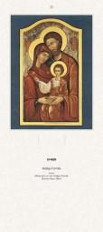 Rückwand zum Liturgischen Kalender - Heilige Familie, Ikone