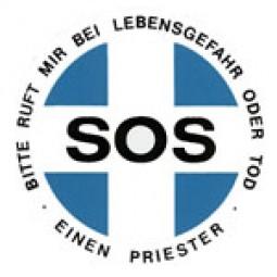 SOS-Priester (Aufkleber für Ausweis)